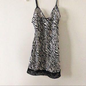 Victoria's secret black animal prints slip dress